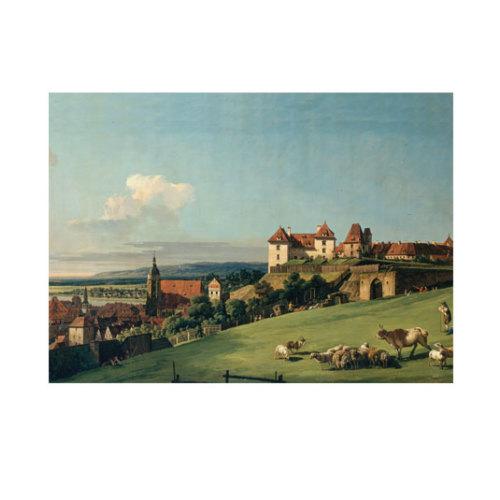 ARTİKEL Bernardo Bellotto - View of Pirna from the Sonnenstein Castle 50x70 cm KS-1243