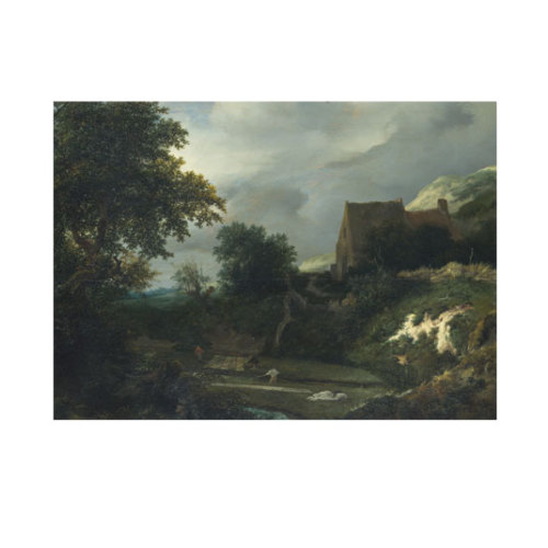 ARTİKEL Jacob van Ruisdael - A Bleaching Ground in a Hollow by a Cottage 50x70 cm KS-1499