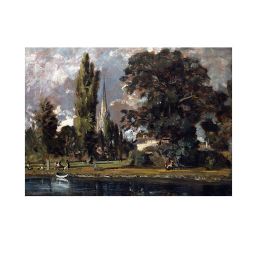 ARTİKEL John Constable - Salisbury Cathedral and Leadenhall From the River Avon 50x70 cm KS-1325
