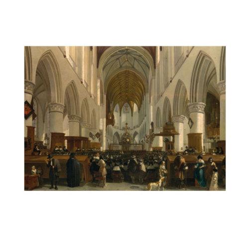 ARTİKEL Gerrit Adriaensz Berckheyde - The Interior of the Grote Kerk (St Bavo) at Haarlem 50x70 cm KS-1293