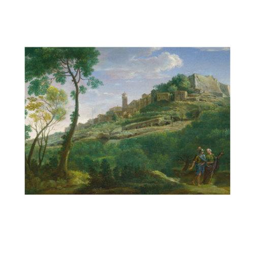 ARTİKEL Hendrik Frans Van Lint - A Landscape with an Italian Hill Town 50x70 cm KS-1490