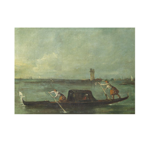 ARTİKEL Francesco Guardi - A Gondola on the Lagoon near Mestre 50x70 cm KS-1475