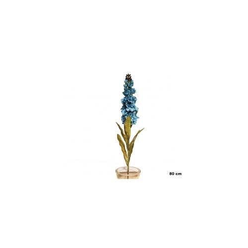Yedifil Kısa Püskül Mavi Yapay Çiçek
