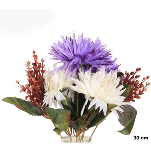 Yedifil Saçlı Demet Lila Yapay Çiçek