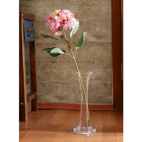 Yedifil Geniş Yaprak Ortanca Fuşya Yapay Çiçek