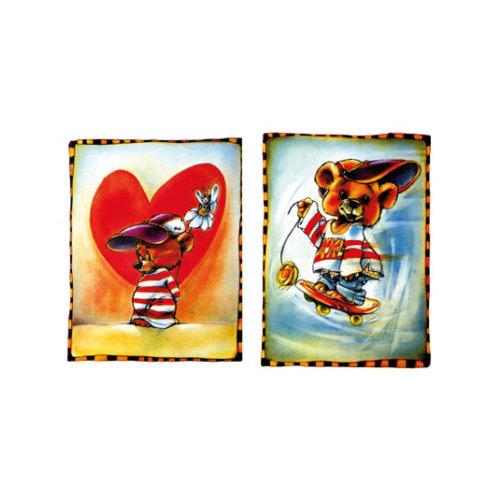 ARTİKEL Sweety Heart 2 Parça Kanvas Tablo 60x40 cm KS-652