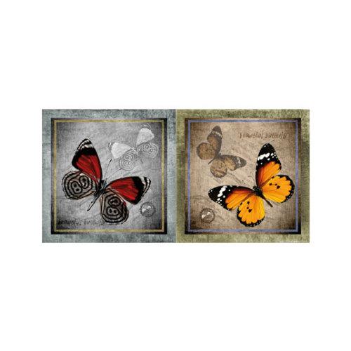 ARTİKEL Butterfly 2 Parça Kanvas Tablo 80x40 cm KS-604