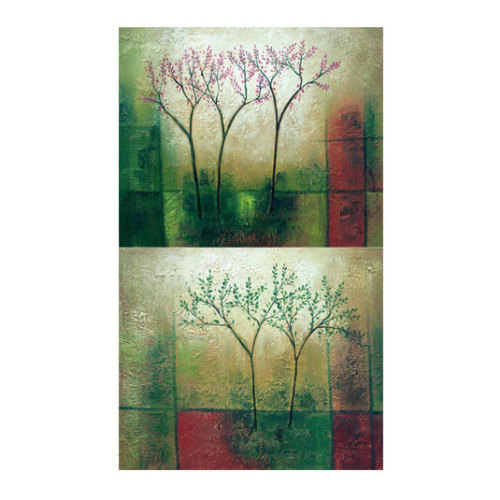 ARTİKEL Famous Green 2 Parça Kanvas Tablo 60x40 cm KS-654