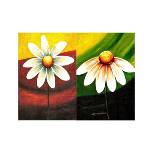 ARTİKEL Daisies-2 2 Parça Kanvas Tablo 80x100 cm KS-097