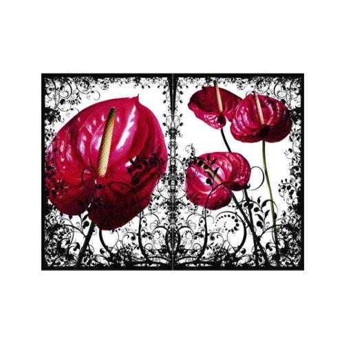 ARTİKEL Red Leaves 2 Parça Kanvas Tablo 80x100 cm KS-412