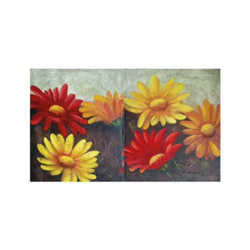 ARTİKEL Colorful Daisies 2 Parça Kanvas Tablo 60x40 cm KS-653