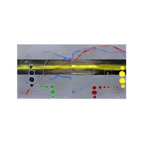 ARTİKEL The Lazy Song 2 Parça Kanvas Tablo 80x40 cm KS-812