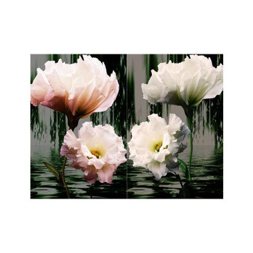 ARTİKEL İki Parça Çiçek 2 Parça Kanvas Tablo 80x100 cm KS-359