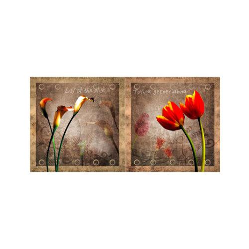 ARTİKEL Romantic Shadow 2 Parça Kanvas Tablo 80x40 cm KS-494