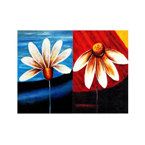 ARTİKEL Daisies 2 Parça Kanvas Tablo 80x100 cm KS-096