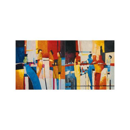 ARTİKEL Dating 2 Parça Kanvas Tablo 80x40 cm KS-752