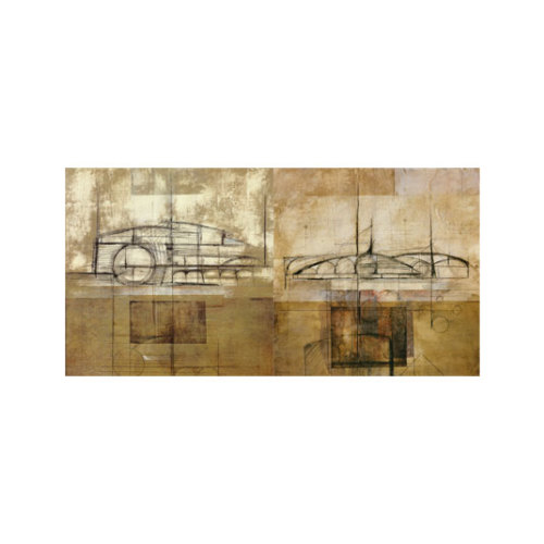 ARTİKEL Vibrations 2 Parça Kanvas Tablo 80x40 cm KS-890