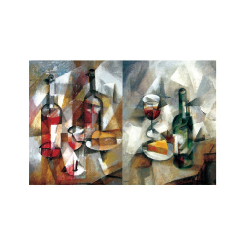 ARTİKEL Cubism Wine 2 Parça Kanvas Tablo 60x40 cm KS-888