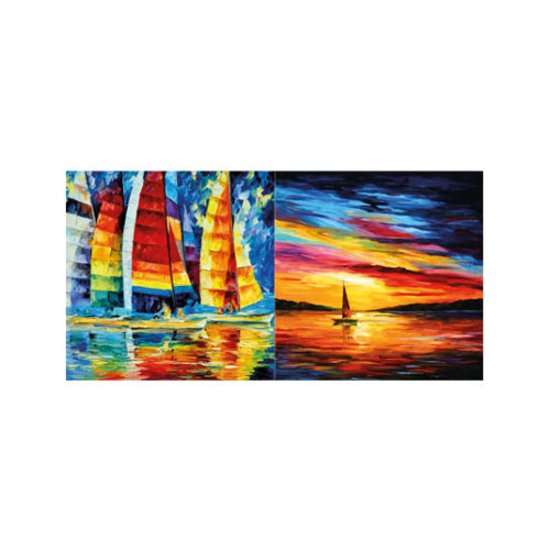 ARTİKEL Rainbow Sailing 2 Parça Kanvas Tablo 80x40 cm KS-763