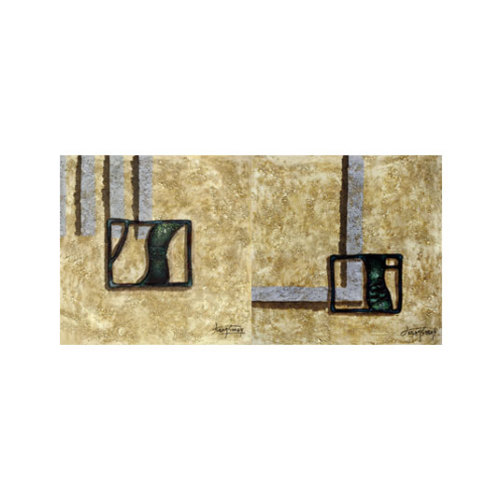 ARTİKEL Creative Shapes-2 2 Parça Kanvas Tablo 80x40 cm KS-872