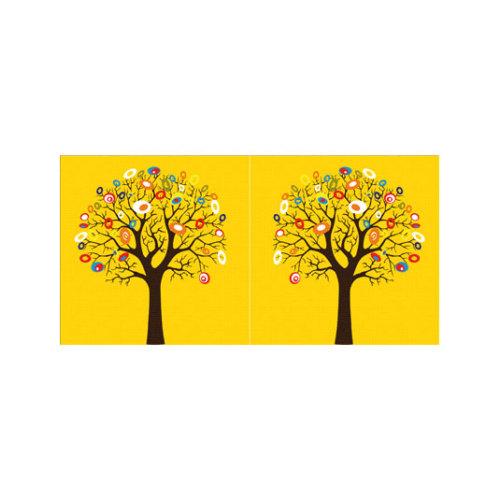 ARTİKEL Yellow Tree 2 Parça Kanvas Tablo 80x40 cm KS-755