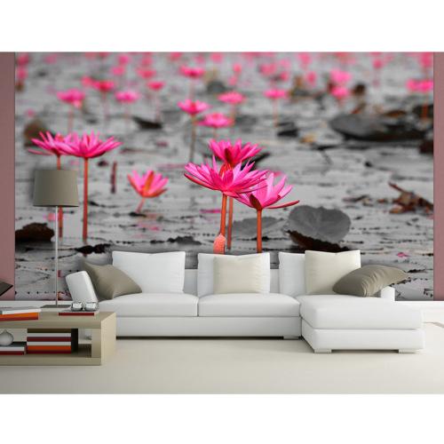 Artmodel Pembe Çiçekler Poster Duvar Kağıdı DVC-11