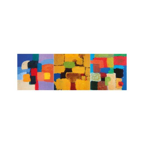 ARTİKEL Romantic Square 3 Parça Kanvas Tablo 40X120 Cm KS-722