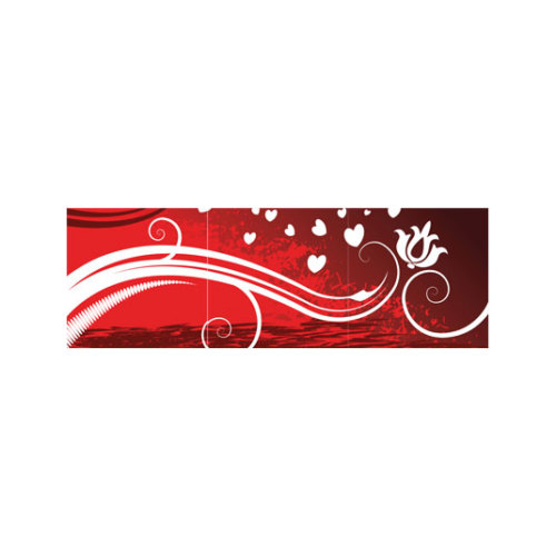 ARTİKEL Romantic Hearts 3 Parça Kanvas Tablo 40X120 Cm KS-703