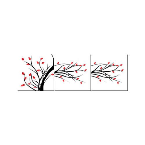 ARTİKEL Red Buds-2 3 Parça Kanvas Tablo 40X120 Cm KS-773