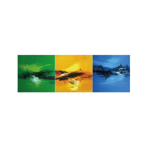 ARTİKEL Colourful Sea 3 Parça Kanvas Tablo 40X120 Cm KS-668