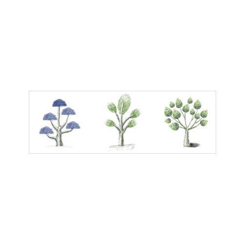 ARTİKEL Basic Trees 3 Parça Kanvas Tablo 40X120 Cm KS-640