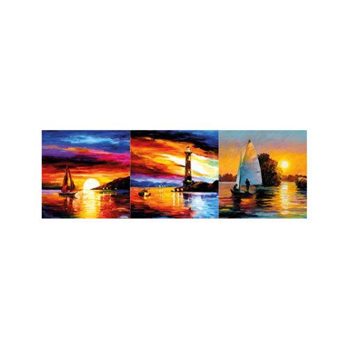 ARTİKEL Colourful Sky 3 Parça Kanvas Tablo 40X120 Cm KS-761