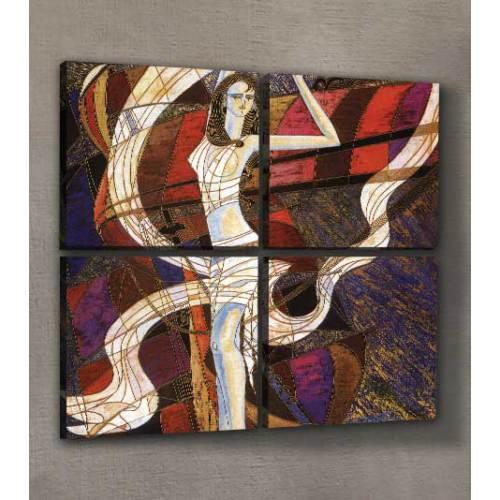 ARTİKEL Woman Dancing 4 Parça Kanvas Tablo 70x70 cm KS-141