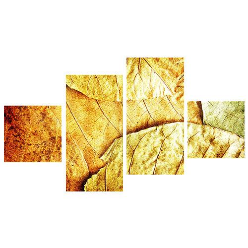 Tictac Design Yaprak 4 Parça Kanvas Tablo 34