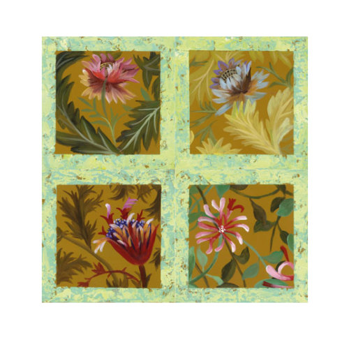 ARTİKEL Different Flowers 4 Parça Kanvas Tablo 70x70 cm KS-656