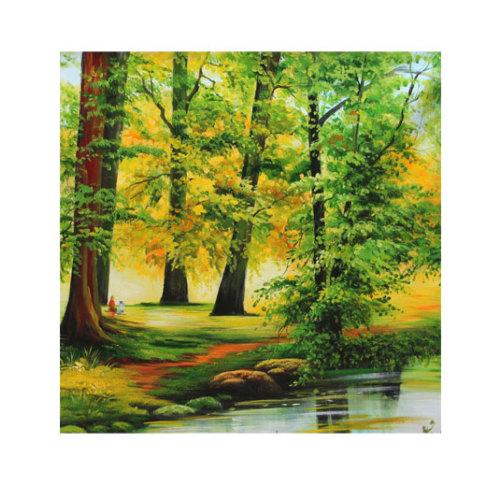 ARTİKEL Landscape 4 Parça Kanvas Tablo 70x70 cm KS-083