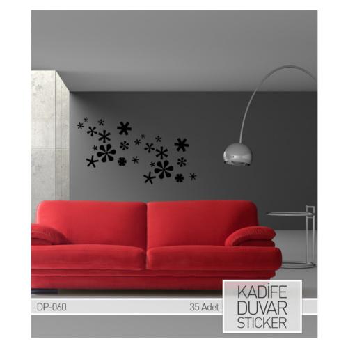 ARTİKEL Kar Tanesi Kadife Duvar Sticker 35 Adet DP-060
