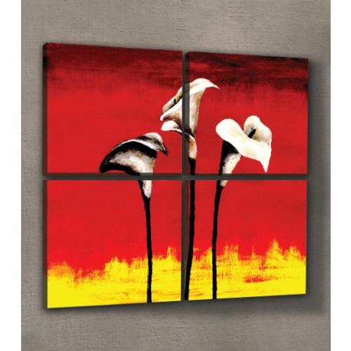 ARTİKEL Hold On 4 Parça Kanvas Tablo 70x70 cm KS-144