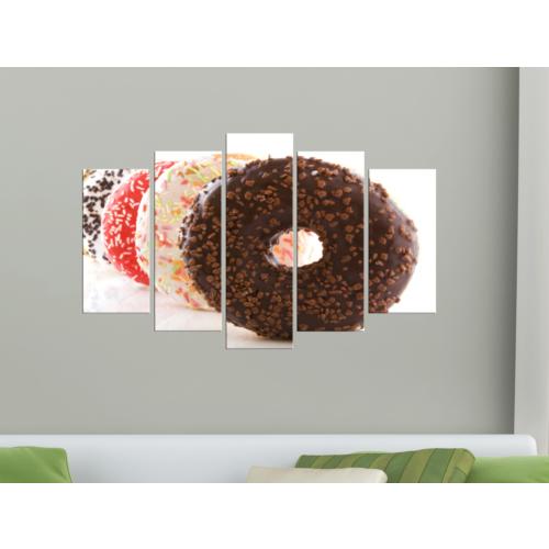 K Dekorasyon Doughnut 5 Parçalı Mdf Tablo KM-5P 2284