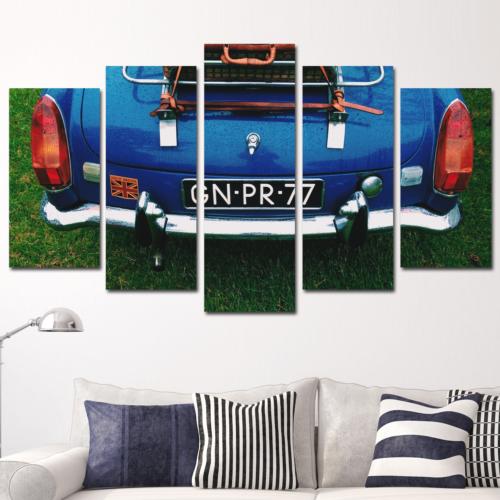 K Dekorasyon Klasik Otomobil 5 Parçalı Mdf Tablo KM5P1561