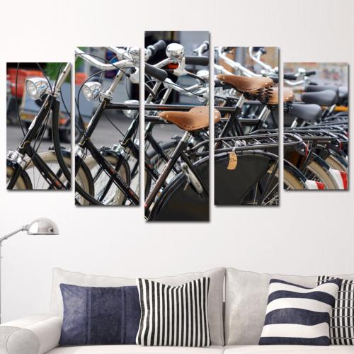 K Dekorasyon Bisikletler 5 Parçalı Mdf Tablo KM5P1546
