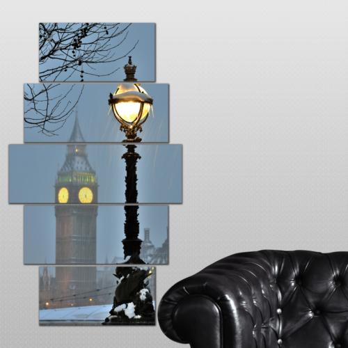 K Dekorasyon Saat Kulesi 5 Parçalı Mdf Tablo KM-5P 2540