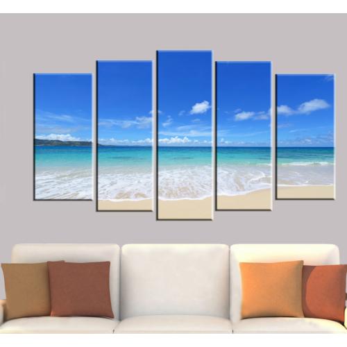 K Dekorasyon Sahil 5 Parçalı Mdf Tablo KM5P1317
