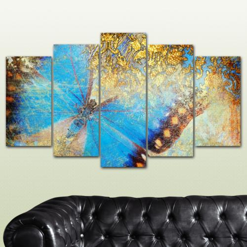 K Dekorasyon Kelebek 5 Parçalı Mdf Tablo KM-5P 2338