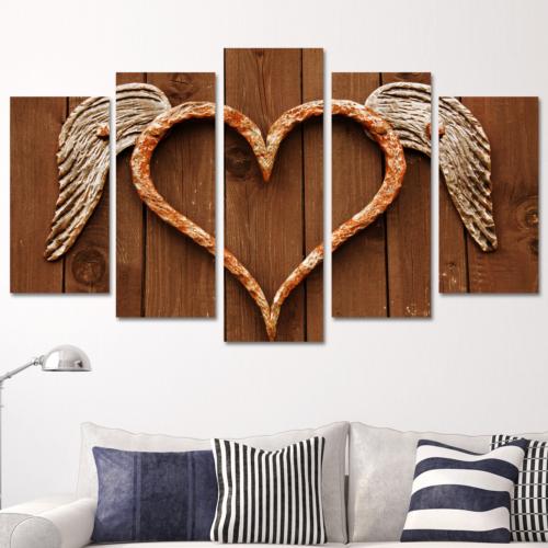 K Dekorasyon Love 5 Parçalı Mdf Tablo KM5P1672