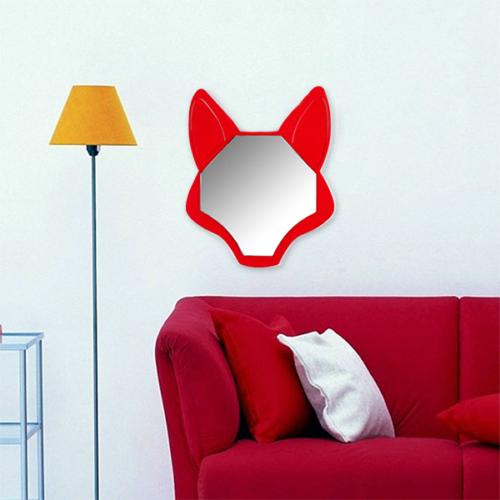 Gibi Design Reynard Tilki Şekilli Ayna Kırmızı