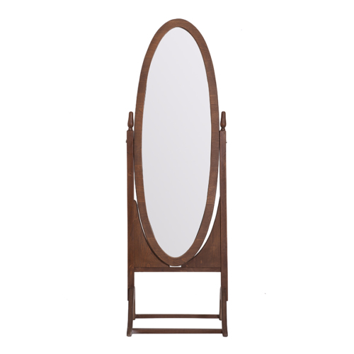 Desa Mobilya Oval Boy Aynası Ahsap - Ceviz