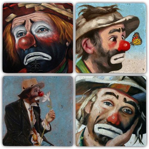 Oscar Stone Clown Bardak Altlığı
