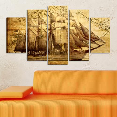 Casa De Arte Harita 5 Parça Kanvas Tablo