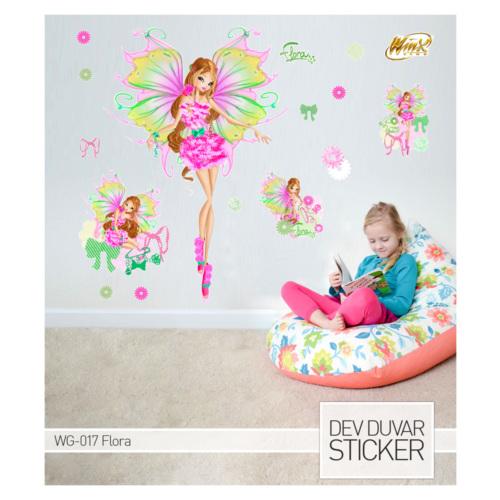 Artikel Flora Dev Duvar Sticker